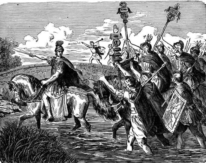 Julius Caesar crosses Rubicon