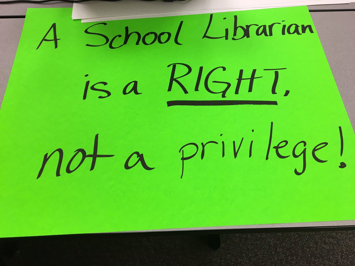 """""""You know it's bad when librarians rally"""". Praise to a non-neutral profession"""