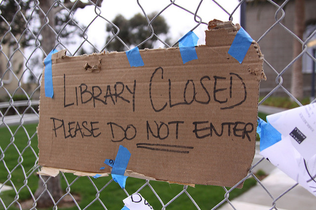 Library-closed-sign